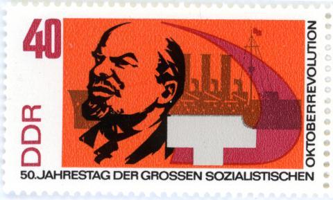 Briefmarke zum 50. Jahrestag der Oktoberrevolution 1967