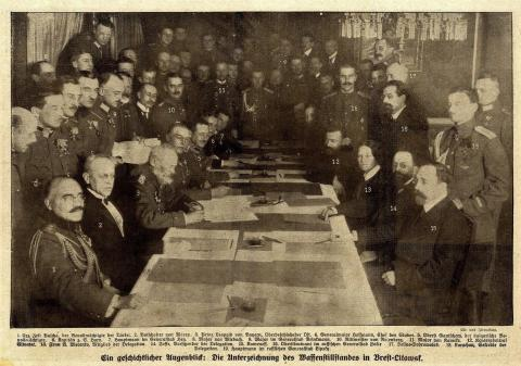 Unterzeichnung des Waffenstillstandes Dezember 1917