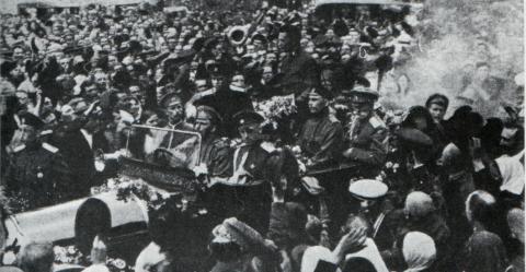 Kerenski in Moskau Juni 1917