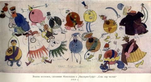 Skizzen zu Mysterium buffo (Majakowski)