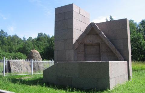 Museum in Rasliv nahe Petrograd, wo sich Lenin im Sommer 1917 in einer Laubhütte versteckt hielt und an der Vorbereitung des Aufstandes arbeitete