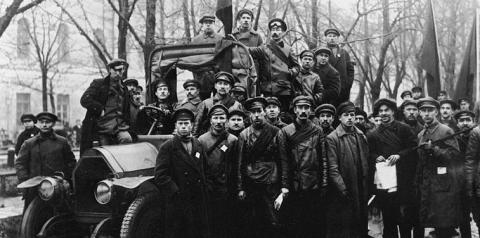 Rote Garde in Petrograd
