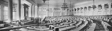Der Sitzungssaal im Taurischen Palais