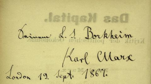 Marx' Widmung für Sigismund Ludwig Borkheim