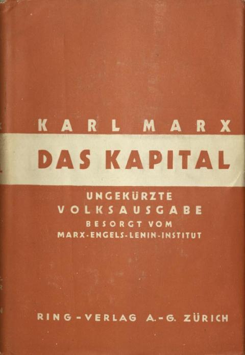 Vorbemerkung des Marx-Engels-Lenin-Institut zur Volksausgabe des dritten Bands, Ring-Verlag A.-G., 1933